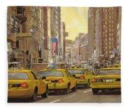 taxi a New York Fleece Blanket