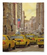 taxi a New York Fleece Blanket