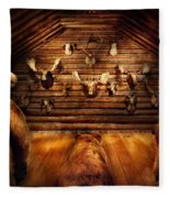 Taxidermy - Home Of The Three Bears Fleece Blanket