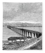 Tay Rail Bridge, 1879 Fleece Blanket