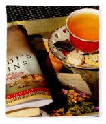 Tea And A Read Fleece Blanket