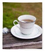 Tea And Art Fleece Blanket