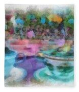 Tea Cup Ride Fantasyland Disneyland Pa 01 Fleece Blanket