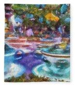 Tea Cup Ride Fantasyland Disneyland Pa 02 Fleece Blanket