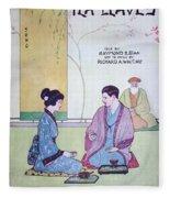 Tea Leaves Fleece Blanket