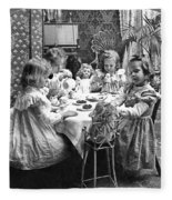 Tea Party, C1902 Fleece Blanket