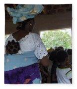 Teacher Backing Her Baby  Fleece Blanket