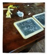 Teacher - School Slates Fleece Blanket