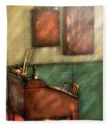 Teacher - The Teachers Desk Fleece Blanket