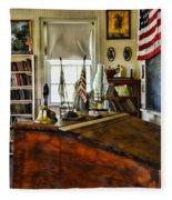 Teacher - Vintage Desk Fleece Blanket
