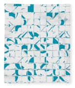 Teal Glyphs  Fleece Blanket