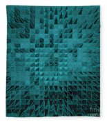 Teal Quilt Fleece Blanket