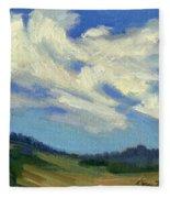 Teanaway Passing Clouds Fleece Blanket