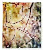 Teardrops Of The Nature Fleece Blanket