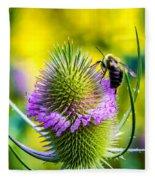 Teasel And Bee Fleece Blanket