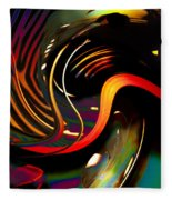 Techno  Neon Stripes Fleece Blanket