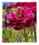 Tecolote Ranunculus Flowers By Diana Sainz Fleece Blanket