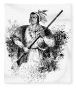Tecumseh, Shawnee Indian Leader Fleece Blanket
