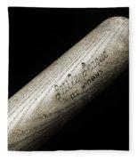 Ted Williams Little League Baseball Bat Bw Fleece Blanket
