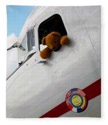 Teddy Bear Pilot Fleece Blanket