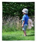 Teddy Bear Walk Fleece Blanket