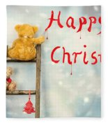 Teddy Bears At Christmas Fleece Blanket