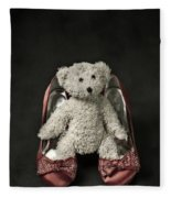 Teddy In Pumps Fleece Blanket