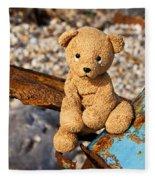 Ted's On The Rust Pile Fleece Blanket