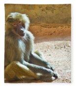 Teen Baboon Fleece Blanket