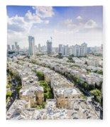 Tel Aviv Israel Elevated View Fleece Blanket
