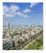 Tel Aviv Israel Elevated View Fleece Blanket