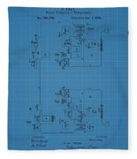 Telegraph Blueprint Patent Fleece Blanket