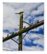 Telegraph Pole - Yesterdays Technology Fleece Blanket