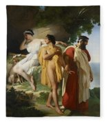 Telemachus And Eucharis Fleece Blanket