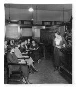 Telephone Exchange, 1915 Fleece Blanket