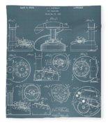 Telephone Patent Fleece Blanket