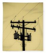 Telephone Pole 1 Fleece Blanket