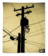 Telephone Pole 2 Fleece Blanket