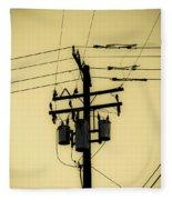 Telephone Pole 4 Fleece Blanket
