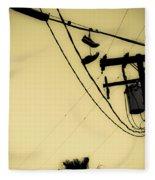 Telephone Pole 8 Fleece Blanket