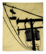 Telephone Pole And Sneakers 1 Fleece Blanket