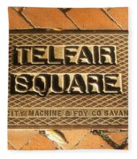 Telfair Square In Savannah Fleece Blanket