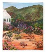 Temecula Heritage Rose Garden Fleece Blanket