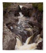 Temperance River Scene 1 Fleece Blanket