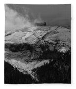 Tempest On Teapot Mountain Fleece Blanket