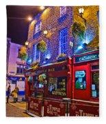 The Temple Bar Pub Dublin Ireland Fleece Blanket