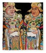 Temple Doors 01 Fleece Blanket