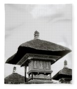 Temple In Ubud Fleece Blanket