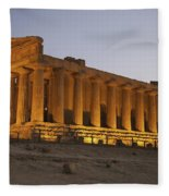 Temple Of Concordia In The Valley Of Fleece Blanket