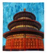 Temple Of Heaven Fleece Blanket